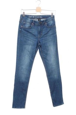 Детски дънки H&M, Размер 12-13y/ 158-164 см, Цвят Син, 70% памук, 29% полиестер, 1% еластан, Цена 18,95лв.