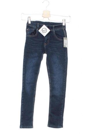 Детски дънки Kanz, Размер 7-8y/ 128-134 см, Цвят Син, 98% памук, 2% еластан, Цена 32,12лв.
