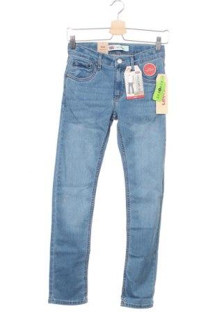 Детски дънки Levi's, Размер 11-12y/ 152-158 см, Цвят Син, 70% памук, 20% полиестер, 9% вискоза, 1% еластан, Цена 34,65лв.