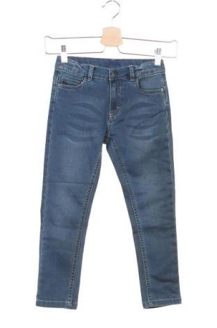 Детски дънки Wooloo Mooloo, Размер 4-5y/ 110-116 см, Цвят Син, 77% памук, 21% полиестер, 2% еластан, Цена 39,42лв.