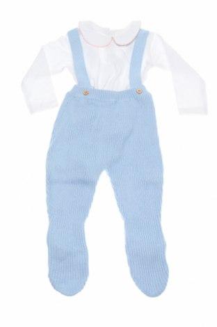 Детски комплект Street Monkey, Размер 6-9m/ 68-74 см, Цвят Бял, Памук, акрил, Цена 22,42лв.