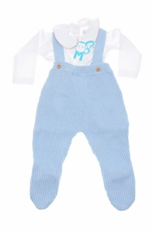 Детски комплект Street Monkey, Размер 1-2m/ 50-56 см, Цвят Бял, Памук, акрил, Цена 14,16лв.