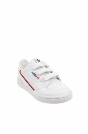 Детски обувки Adidas Originals, Размер 31, Цвят Бял, Естествена кожа, Цена 80,92лв.