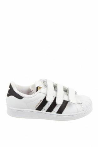 Παιδικά παπούτσια Adidas Originals, Μέγεθος 34, Χρώμα Λευκό, Γνήσιο δέρμα, Τιμή 41,71€