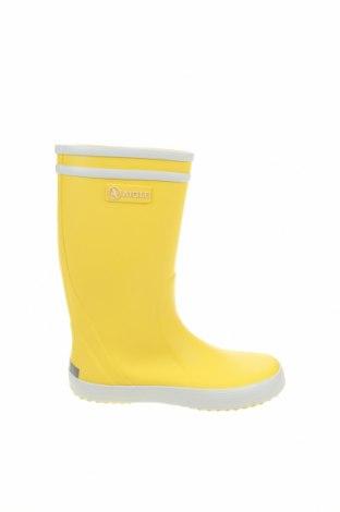 Детски обувки Aigle, Размер 32, Цвят Жълт, Полиуретан, Цена 50,31лв.