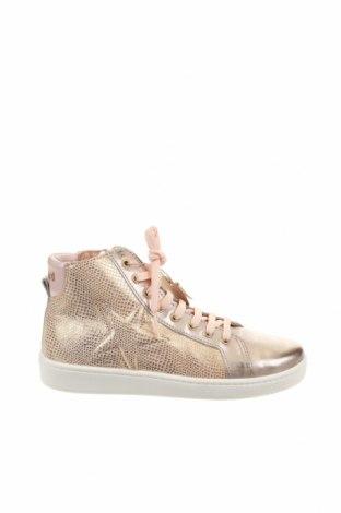 Παιδικά παπούτσια Bisgaard, Μέγεθος 35, Χρώμα Χρυσαφί, Γνήσιο δέρμα, Τιμή 46,01€
