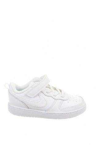 Детски обувки Nike, Размер 27, Цвят Бял, Естествена кожа, еко кожа, Цена 89,25лв.