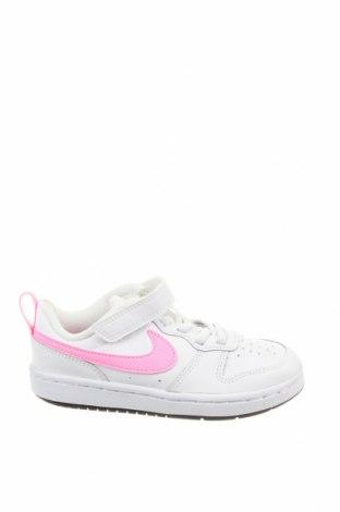 Детски обувки Nike, Размер 28, Цвят Бял, Естествена кожа, еко кожа, Цена 94,52лв.