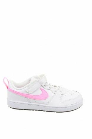 Детски обувки Nike, Размер 34, Цвят Бял, Естествена кожа, еко кожа, Цена 94,52лв.