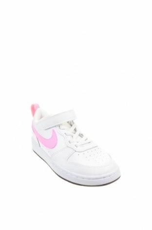 Детски обувки Nike, Размер 32, Цвят Бял, Естествена кожа, еко кожа, Цена 94,52лв.