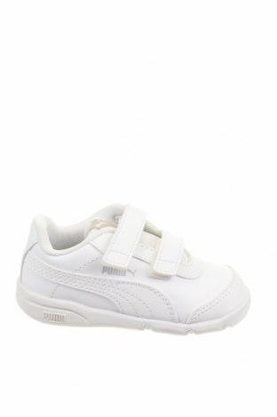 Детски обувки PUMA, Размер 23, Цвят Бял, Еко кожа, текстил, Цена 35,60лв.