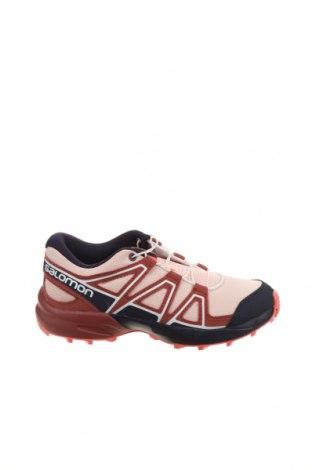 Детски обувки Salomon, Размер 32, Цвят Розов, Текстил, еко кожа, Цена 89,25лв.