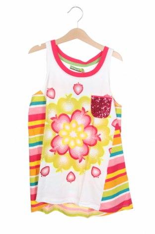 Μπλουζάκι αμάνικο παιδικό Desigual, Μέγεθος 11-12y/ 152-158 εκ., Χρώμα Πολύχρωμο, 99% βαμβάκι, 1% ελαστάνη, Τιμή 13,89€