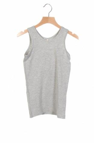 Μπλουζάκι αμάνικο παιδικό Name It, Μέγεθος 5-6y/ 116-122 εκ., Χρώμα Γκρί, 95% βαμβάκι, 5% ελαστάνη, Τιμή 10,05€