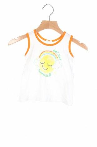 Μπλουζάκι αμάνικο παιδικό United Colors Of Benetton, Μέγεθος 3-6m/ 62-68 εκ., Χρώμα Λευκό, Βαμβάκι, Τιμή 10,82€