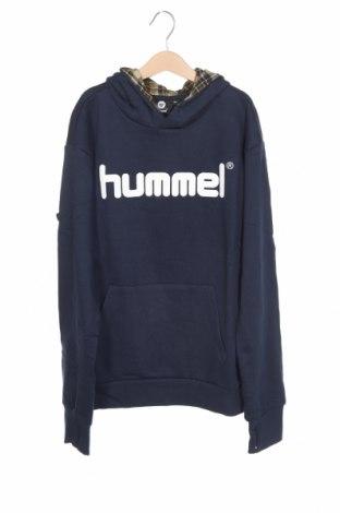 Детски суичър Hummel, Размер 12-13y/ 158-164 см, Цвят Син, Памук, Цена 25,96лв.