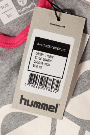Детско боди Hummel, Размер 18-24m/ 86-98 см, Цвят Сив, Памук, Цена 28,50лв.