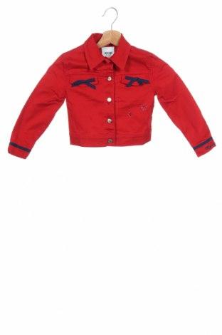 Детско яке Moschino, Размер 2-3y/ 98-104 см, Цвят Червен, 97% памук, 3% еластан, Цена 134,40лв.