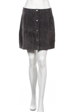 Δερμάτινη φούστα Freaky Nation, Μέγεθος M, Χρώμα Γκρί, Φυσικό σουέτ, Τιμή 58,45€