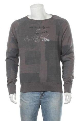 Мъжка блуза Desigual, Размер L, Цвят Сив, 90% памук, 10% полиестер, Цена 67,32лв.