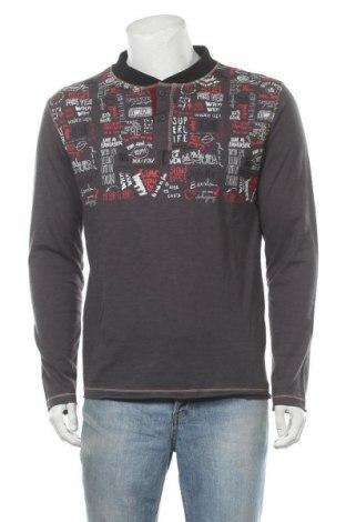 Мъжка блуза Desigual, Размер L, Цвят Сив, 99% памук, 1% еластан, Цена 67,32лв.