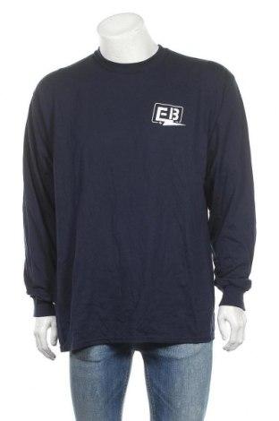 Мъжка блуза Gildan, Размер XL, Цвят Син, 50% памук, 50% полиестер, Цена 14,96лв.