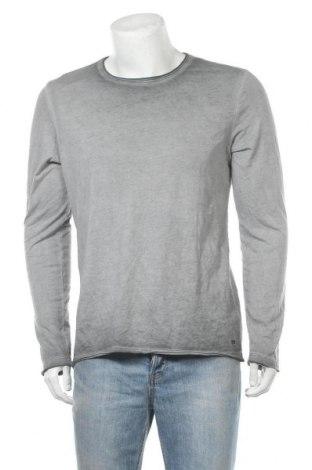 Ανδρική μπλούζα Q/S by S.Oliver, Μέγεθος L, Χρώμα Γκρί, Βαμβάκι, Τιμή 11,69€