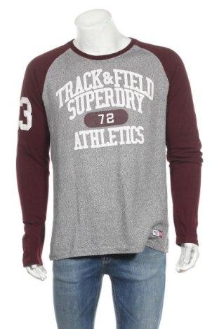 Мъжка блуза Superdry, Размер L, Цвят Сив, 55% памук, 45% полиестер, Цена 39,90лв.