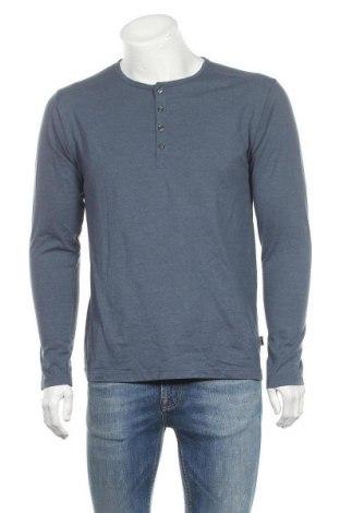 Мъжка блуза Trigema, Размер M, Цвят Син, 50% памук, 50% полиестер, Цена 17,96лв.
