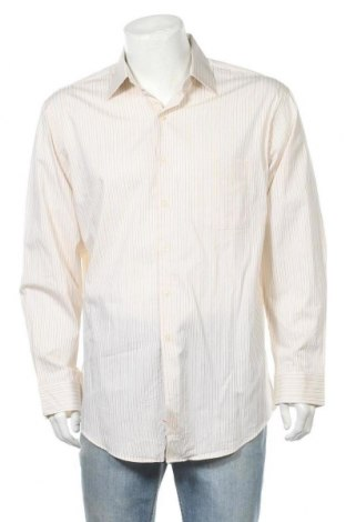 Ανδρικό πουκάμισο Alfani, Μέγεθος L, Χρώμα Εκρού, Βαμβάκι, Τιμή 6,43€