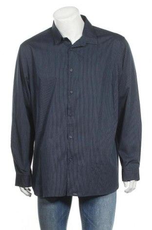 Ανδρικό πουκάμισο Alfani, Μέγεθος XXL, Χρώμα Μπλέ, 60% βαμβάκι, 40% πολυεστέρας, Τιμή 6,43€