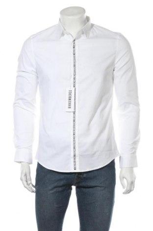 Ανδρικό πουκάμισο Bikkembergs, Μέγεθος M, Χρώμα Λευκό, 96% βαμβάκι, 4% ελαστάνη, Τιμή 29,92€