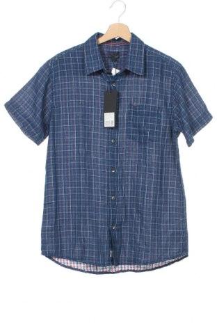 Ανδρικό πουκάμισο Broadway, Μέγεθος S, Χρώμα Μπλέ, Βαμβάκι, Τιμή 14,94€