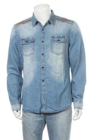 Pánská košile  Desigual, Velikost XL, Barva Modrá, 100% bavlna, Cena  431,00Kč