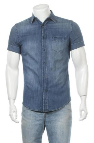 Мъжка риза Diesel, Размер S, Цвят Син, Памук, Цена 94,17лв.