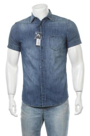 Мъжка риза Diesel, Размер S, Цвят Син, Памук, Цена 104,25лв.