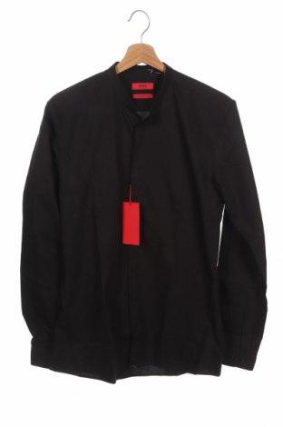 Ανδρικό πουκάμισο Hugo Boss, Μέγεθος S, Χρώμα Μαύρο, Βαμβάκι, Τιμή 90,79€