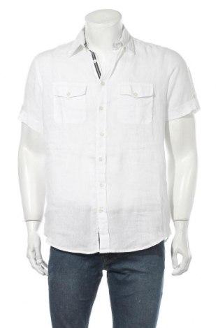 Ανδρικό πουκάμισο Maddison, Μέγεθος S, Χρώμα Λευκό, Λινό, Τιμή 11,11€