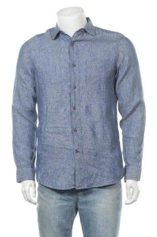 Ανδρικό πουκάμισο Nautica, Μέγεθος S, Χρώμα Μπλέ, Λινό, Τιμή 14,03€