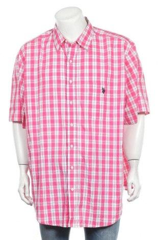 Мъжка риза U.S. Polo Assn., Размер XXL, Цвят Розов, 60% памук, 40% полиестер, Цена 29,40лв.