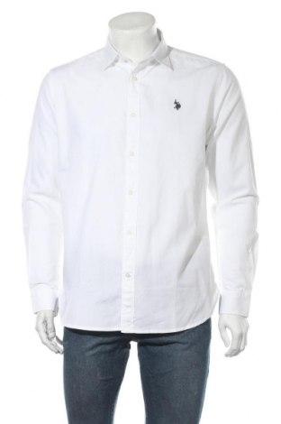 Ανδρικό πουκάμισο U.S. Polo Assn., Μέγεθος M, Χρώμα Λευκό, Βαμβάκι, Τιμή 24,49€