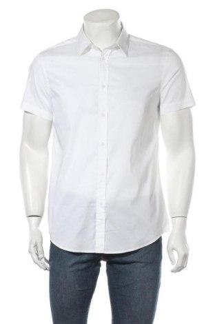 Ανδρικό πουκάμισο United Colors Of Benetton, Μέγεθος M, Χρώμα Λευκό, 68% βαμβάκι, 28% πολυαμίδη, 4% ελαστάνη, Τιμή 14,94€