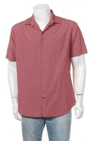 Мъжка риза Van Heusen, Размер L, Цвят Червен, 53% памук, 47% полиестер, Цена 14,28лв.