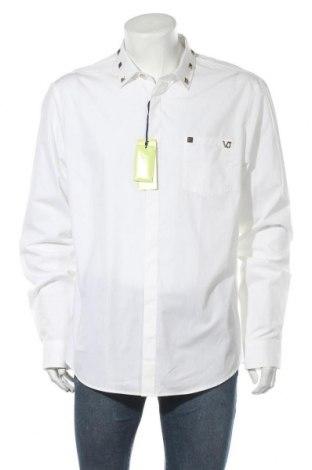 Мъжка риза Versace Jeans, Размер XL, Цвят Бял, Памук, Цена 159,87лв.