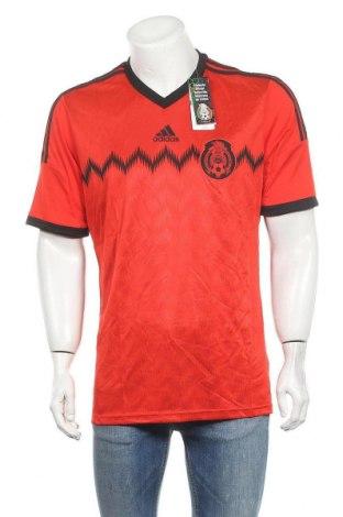 Мъжка тениска Adidas, Размер L, Цвят Червен, Полиестер, Цена 51,75лв.