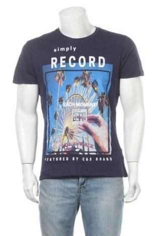Мъжка тениска Cotton&silk, Размер XL, Цвят Син, Памук, Цена 14,28лв.