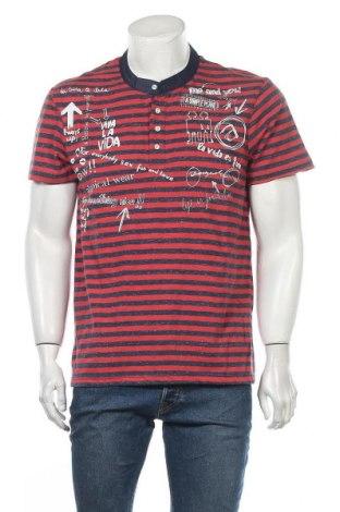 Ανδρικό t-shirt Desigual, Μέγεθος L, Χρώμα Κόκκινο, 80% βαμβάκι, 20% πολυεστέρας, Τιμή 23,25€