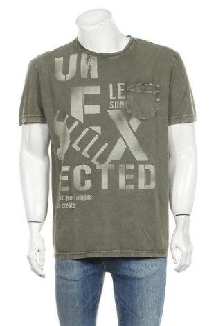 Pánské tričko  Desigual, Velikost XXL, Barva Zelená, Bavlna, Cena  942,00Kč