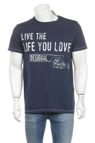 Pánské tričko  Desigual, Velikost XL, Barva Modrá, Bavlna, Cena  836,00Kč