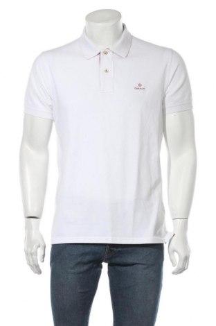 Мъжка тениска Gant, Размер L, Цвят Бял, 96% памук, 4% еластан, Цена 66,75лв.